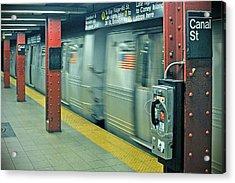 Subway Acrylic Print by Paul Van Baardwijk