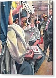 Subway Prelude Acrylic Print by Julie Orsini Shakher