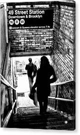 Subway Shadows Acrylic Print