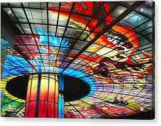 Subway Station Ceiling  Acrylic Print