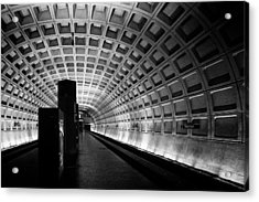 Subway Station Acrylic Print by Celso Diniz