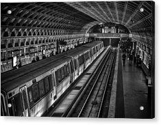 Subway Train Acrylic Print by Lynn Palmer