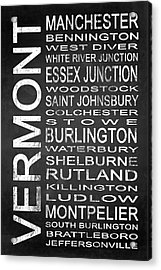 Subway Vermont State 1 Acrylic Print