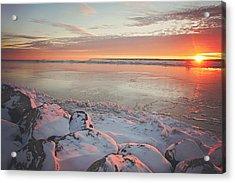 Subzero Sunrise Acrylic Print by Carrie Ann Grippo-Pike