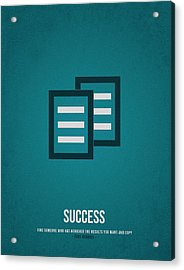 Success Acrylic Print by Aged Pixel