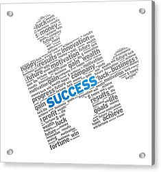 Success Puzzle Acrylic Print