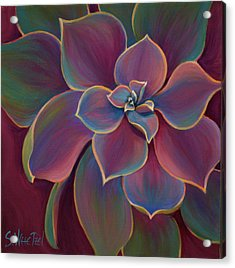 Acrylic Print featuring the painting Succulent Delicacy by Sandi Whetzel