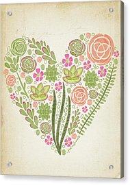 Succulent Heart Acrylic Print
