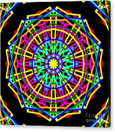 Sudoku Connections Kaleidoscope Acrylic Print by Ron Brown