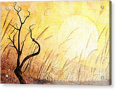 Suffering Acrylic Print by Bedros Awak
