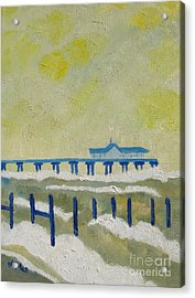 Suffolk Southwold Pier Acrylic Print by Lesley Giles