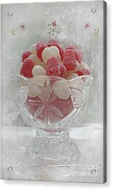 Sugar And Spice Love Red And White Acrylic Print
