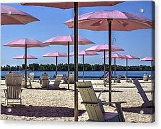 Sugar Beach Summer Acrylic Print by Nicky Jameson