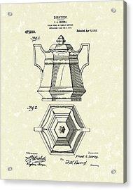Sugar Bowl 1915 Patent Art Acrylic Print