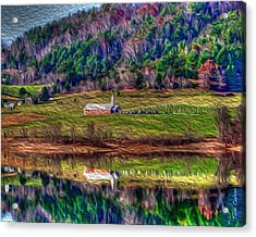 Sugar Grove Reflection Acrylic Print by Tom Culver