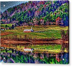 Sugar Grove Reflections 2 Acrylic Print by Tom Culver