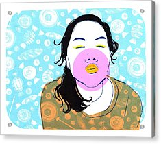 Sugar Lips Acrylic Print by Vanessa Baladad