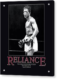 Sugar Ray Robinson Reliance Acrylic Print by Retro Images Archive