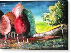 Sugar Trees Acrylic Print by Roni Ruth Palmer