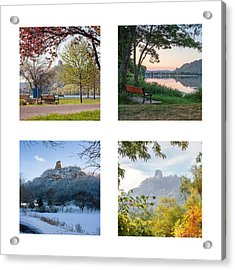 Sugarloaf Four Seasons Square Acrylic Print