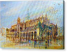 Sukiennice In Cracow Acrylic Print