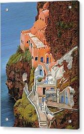 sul mare Greco Acrylic Print by Guido Borelli