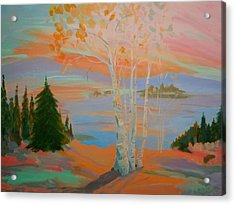 Acrylic Print featuring the painting Sullivan Sunset by Francine Frank