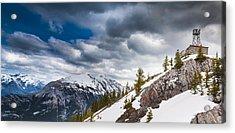 Sulphur Mountain Up High Acrylic Print by Chris Halford