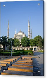 Sultan Ahmet Mosque In Istanbul Acrylic Print by Artur Bogacki
