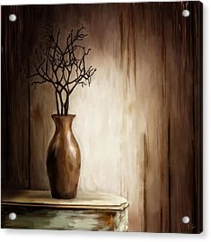 Sultry Brown- Distressed Art Acrylic Print by Lourry Legarde