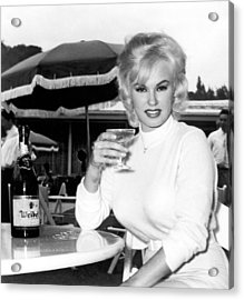 Sultry Mamie Van Doren Acrylic Print by Underwood Archives