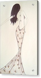 Sultry Sophisticate  Acrylic Print by Christine Corretti