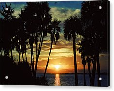 Acrylic Print featuring the photograph Sultry Sunset by Janie Johnson