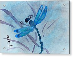 Sumi Dragonfly Acrylic Print by Beverley Harper Tinsley