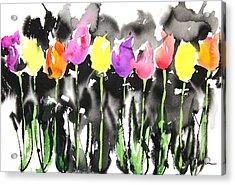 Sumie No.16 Tulips Acrylic Print by Sumiyo Toribe