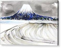 Sumie No.17 Mt.youtei In Hokkaido Japan Acrylic Print by Sumiyo Toribe