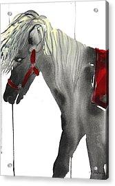 Sumie No.20 Pony Ride Acrylic Print by Sumiyo Toribe