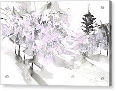 Sumiyo No.4 Five Story Pagoda Acrylic Print by Sumiyo Toribe
