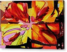 Summer Abstract Acrylic Print by Kathy Bassett
