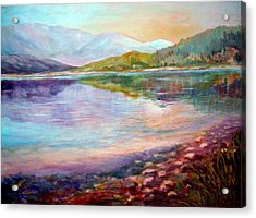 Acrylic Print featuring the painting Summer Afternoon by Sher Nasser