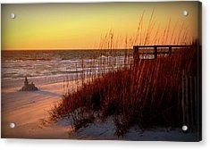 Summer And Sandcastles Acrylic Print by Toni Abdnour