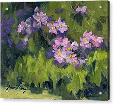 Summer Asters Acrylic Print by Diane McClary