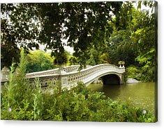 Summer At Bow Bridge Acrylic Print by Jessica Jenney