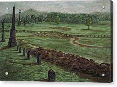 Summer At Cemetary Ridge Gettysburg Acrylic Print by Joann Renner