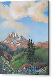 Acrylic Print featuring the painting Summer At Kananaskis 2 by Marta Styk