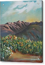 Acrylic Print featuring the painting Summer At Kananaskis by Marta Styk