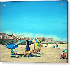 Summer At Salisbury Beach Acrylic Print by Anthony Ross