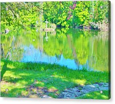 Summer At The Lake Acrylic Print