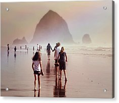 Acrylic Print featuring the photograph Summer At The Seashore  by Micki Findlay