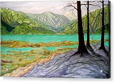 Summer At The Estuary Acrylic Print
